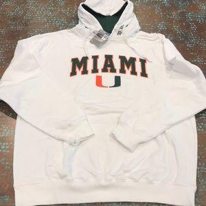 NWT Men's University of Miami Hoodie